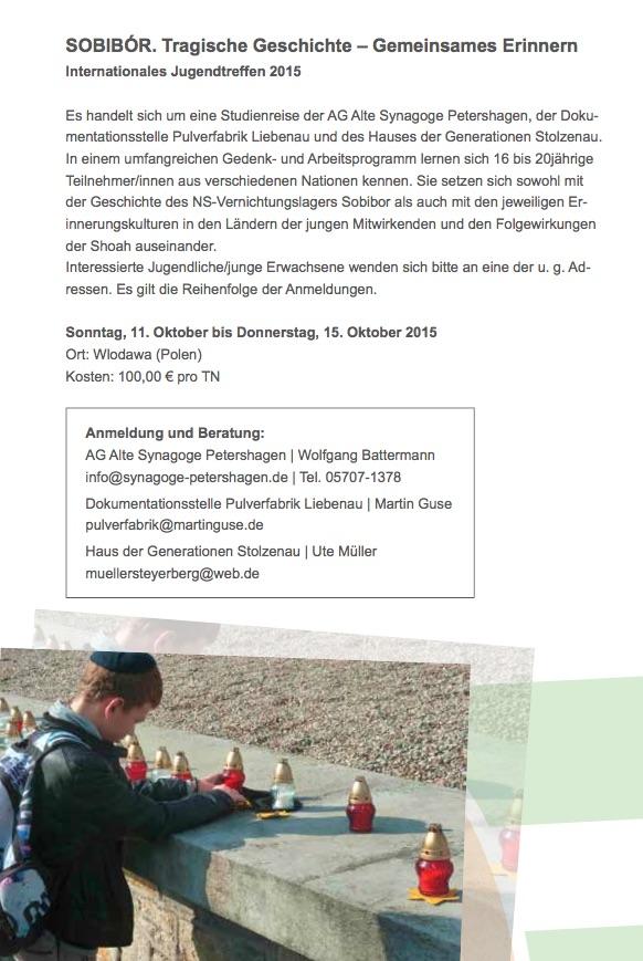 Ankündigung Sobibor