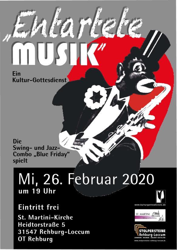 RZ A3-Plakat-Entartete Musik